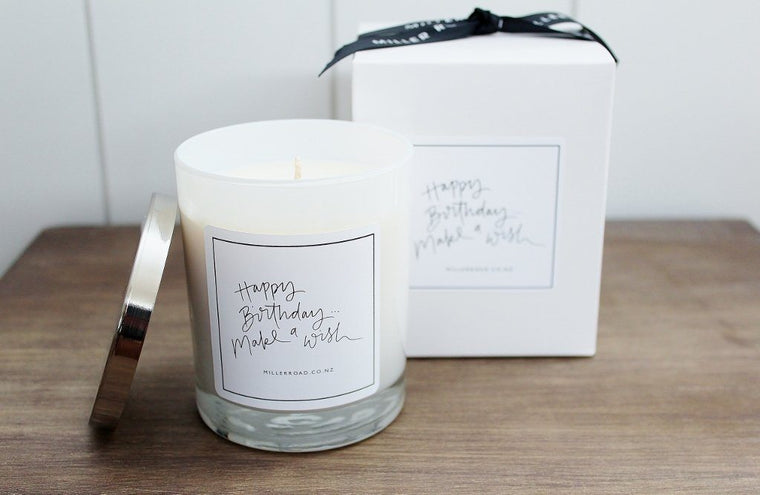 Happy Birthday Miller Road Soy Candle | Gift for Her | The Gift Loft (NZ)