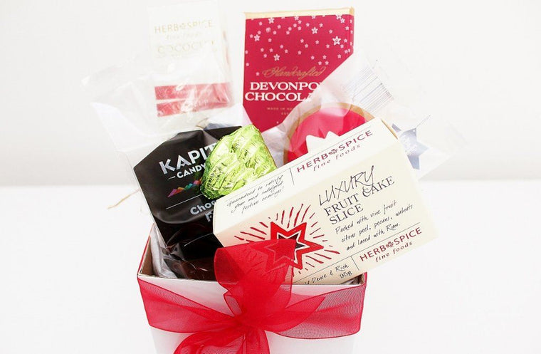 Sweet Tooth Christmas Box with Christmas Cake Slice | The Gift Loft (NZ)