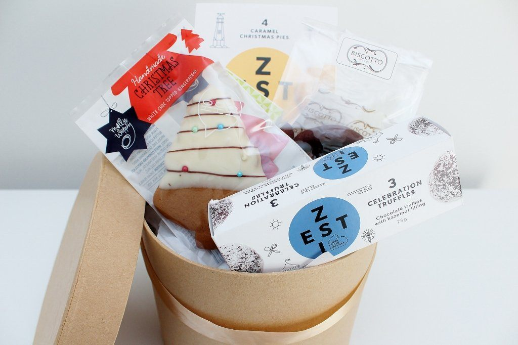 Caramel Christmas Tarts & Sweet Treats Hamper | Gift for Mum & Dad | The Gift Loft (NZ)