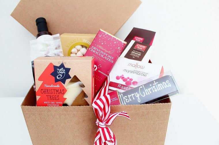Merry Christmas Sweet Treats Gift Hamper - with Merry Christmas Truffle Slice | Dessert & Cake | The Gift Loft (NZ)
