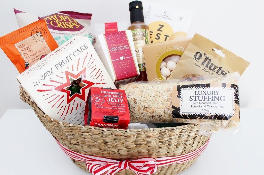 christmas gourmet food gift basket delicious food hamper the gift loft nz