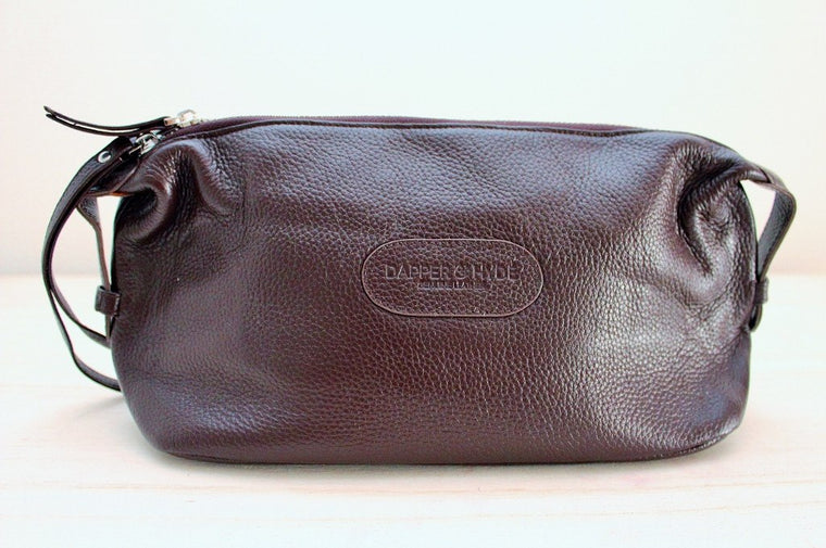 The Dapper Genuine Leather Toilet Bag for Men | Gift for Him | The Gift Loft (NZ)