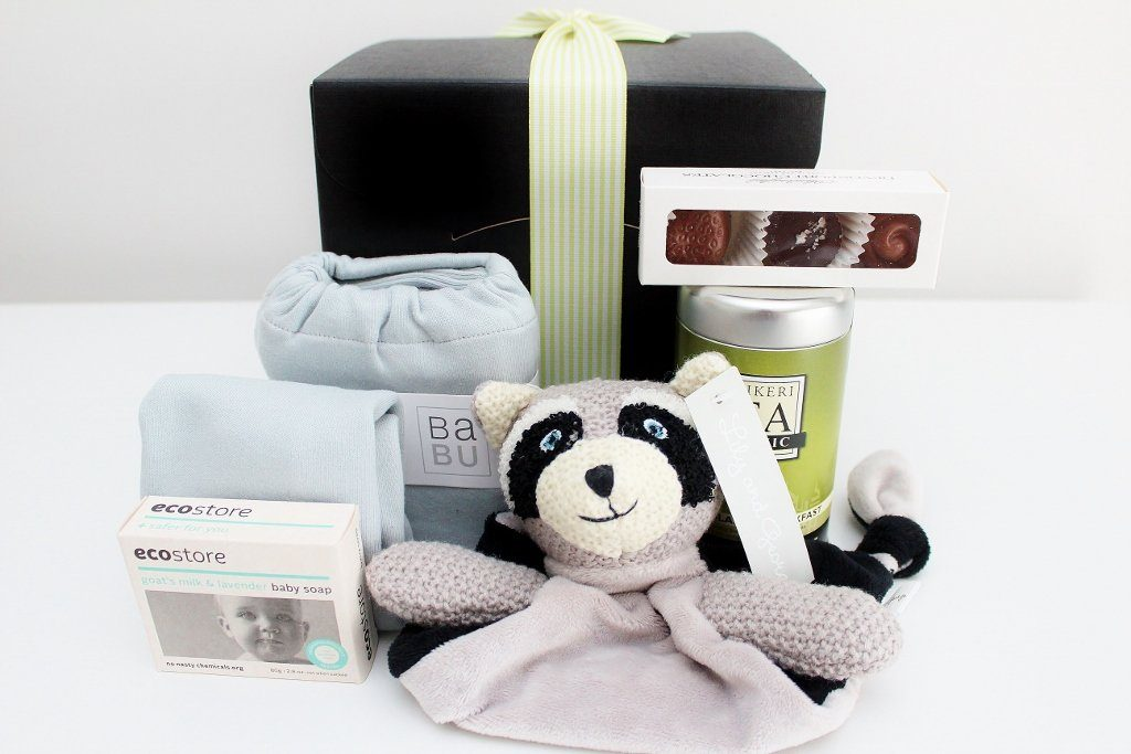 """Welcome Baby"" with Babu Baby Essentials & New Mum Tea & Treats - Girl & Boy Options"