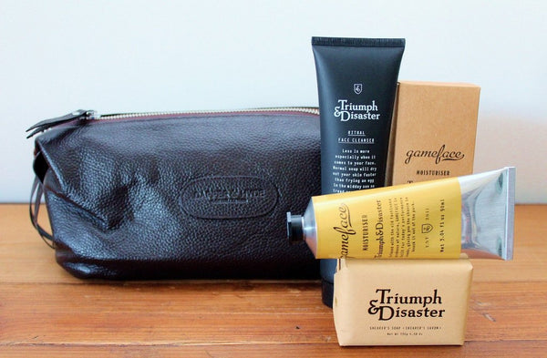 Triumph & Disaster Male Grooming Kit & Leather Toilet Bag | Gift for Him | The Gift loft (NZ)