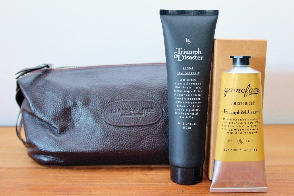 Triumph & Disaster Male Grooming Kit & Leather Toilet Bag | Gift for Dad | The Gift loft (NZ)
