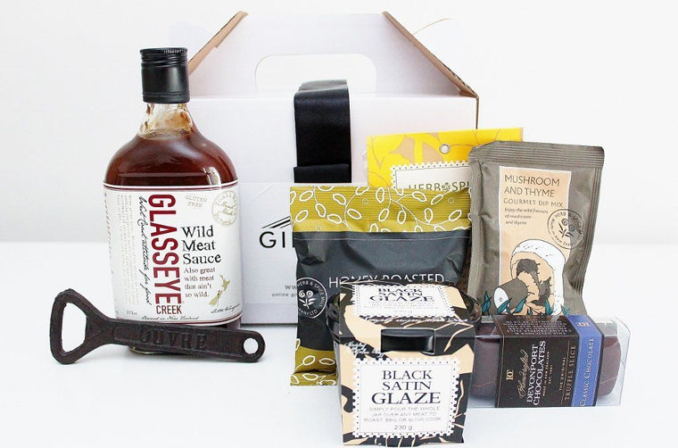 BBQ Essentials Hamper - Black Satin BBQ Glaze | Birthday Gift for Him | The Gift Loft (NZ)