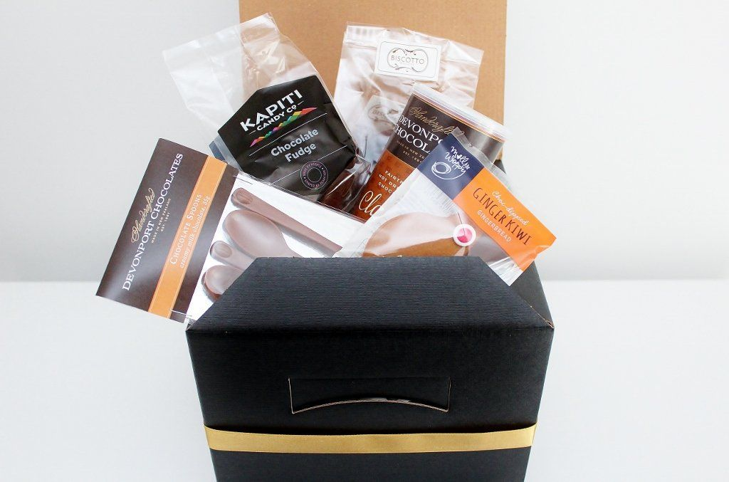 Hot Chocolate & Chocolate Spoons Gift Box | Artisan Chocolate Gift for Him | The Gift Loft (NZ)