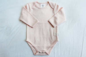 Babu Organic Cotton Bodysuit with Sleeves | Newborn Baby Gift | The Gift Loft (NZ)