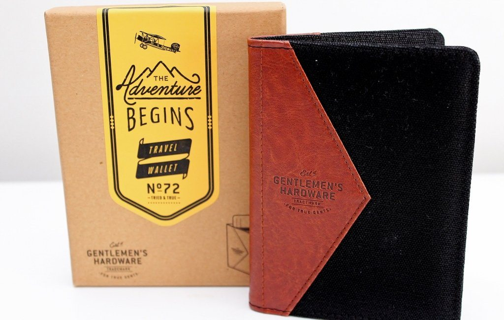 Gentleman's Hardware Canvas Travel Wallet | Gift for Him  | The Gift Loft (NZ)