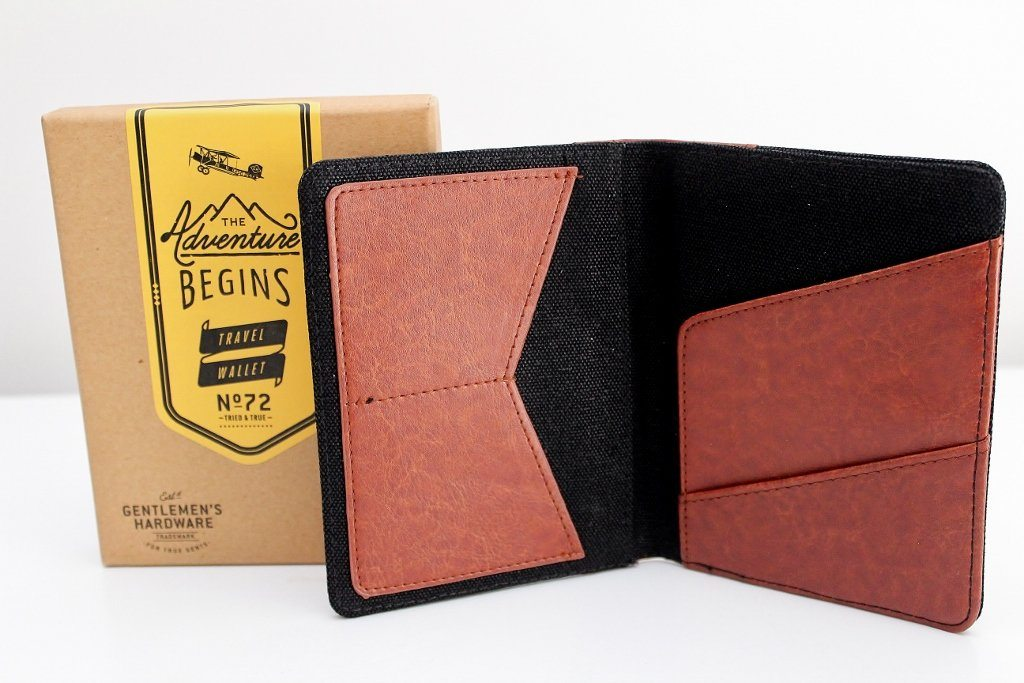 Gentleman's Hardware Canvas Travel Wallet | Gift for Men  | The Gift Loft (NZ)