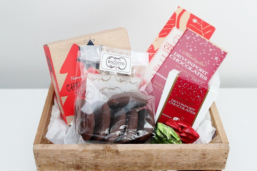 Christmas Cookie & Chocolate Treats Box | Gourmet Xmas Present | The Gift Loft (NZ)