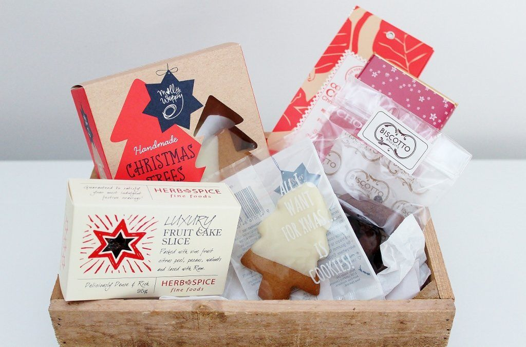 Christmas Cookie & Chocolate Treats Box with Christmas Cake | The Gift Loft (NZ)