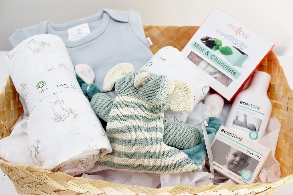 Babu Organic Cotton Baby Basics Hamper with Baby Bodysuit | Newborn Baby Gift | The Gift Loft (NZ)