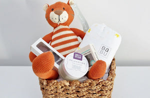 Newborn Baby Hamper with Stripey Tiger | Unique Newborn Baby Gift | The Gift Loft (NZ)