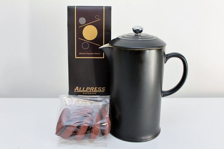 Le Creuset Coffee Press & Allpress Espresso Coffee | Top Gift Idea The Gift Loft (NZ)