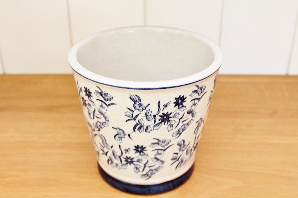 CC Interiors Blue & White Planter | Gift for the Gardener | The Gift Loft (NZ)