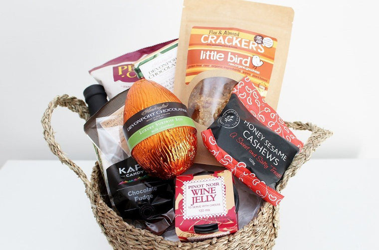 Easter Food Basket with Surprise Easter Egg | NZ Online Gift Store | The Gift Loft (NZ)