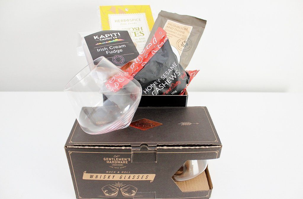Whisky Rocking Glasses & Gourmet Hamper | Unique Gift for Men | The Gift Loft (NZ)