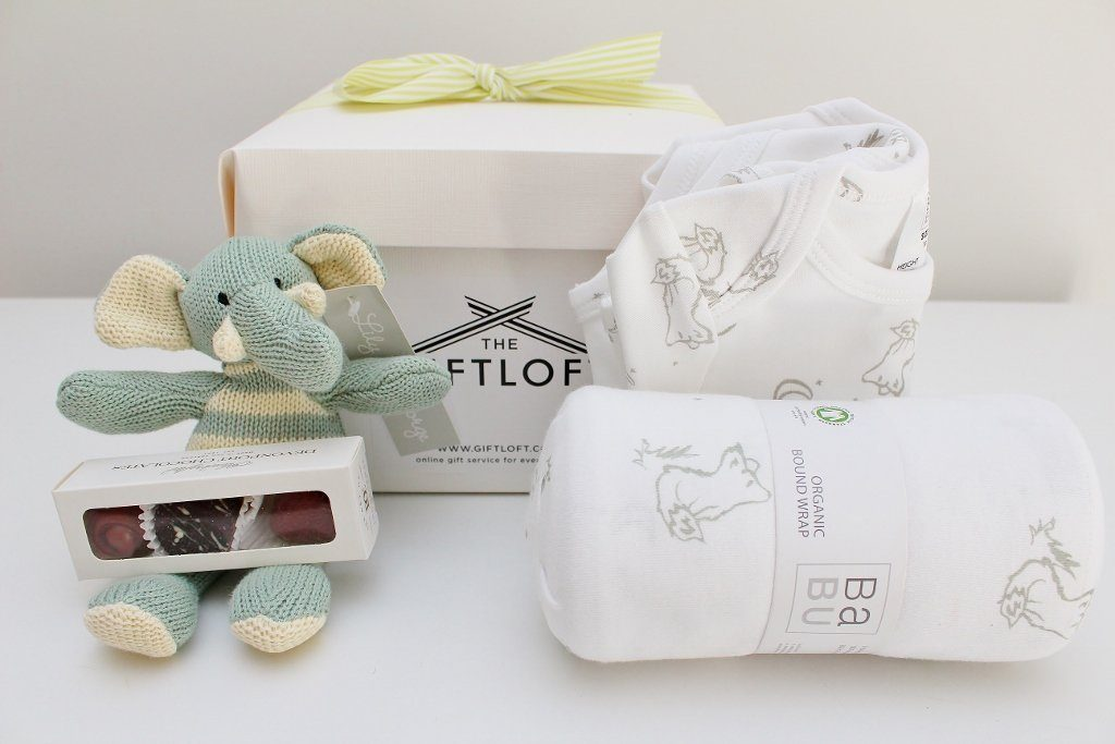 Babu Organic Baby Basics Hamper | Newborn Baby Boy or Girl | The Gift Loft (NZ)