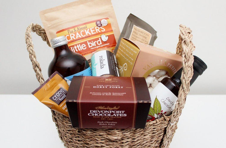Gluten Free Gourmet Gift in a Seagrass Basket | Gift Hamper for Him or Her | The Gift Loft (NZ)