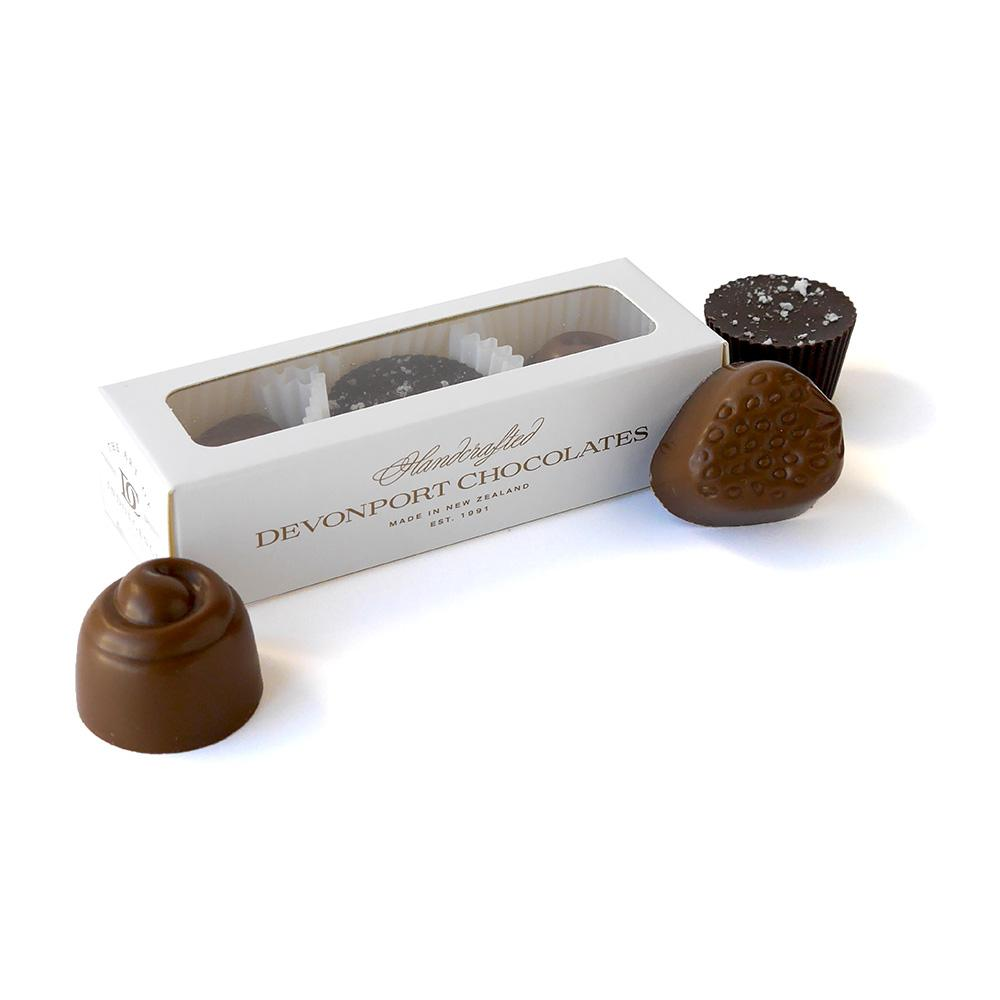 Devonport Chocolates Classic Trio of Chocolate Pieces | Gift for Her | The Gift Loft (NZ)