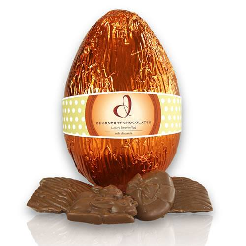 Devonport Chocolates Luxury Surprise Easter Egg - Milk Chocolate