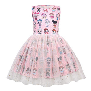 LOL Surprise! Girls Sleeveless Princess Party Dress