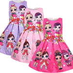 L.O.L Surprise! Two Lovely Girls Pattern Print Sleeveless Dress