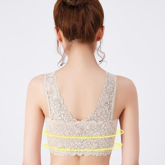 *2019 Hot Products* Front Cross Side Buckle Wireless Lace BRA SALE