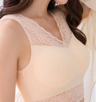Icy Silk Fabric Air Permeable Anti-Sagging Seamless Bra