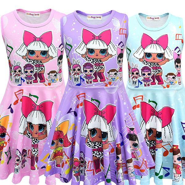 LOL Surprise! Lovely Pattern Soft Material Girls Dress