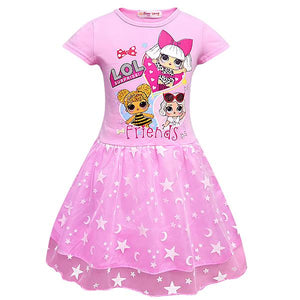 LOL Surprise! Girls Short Sleeve Summer Casual Dresses Variety Colors