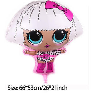 L.O.L Dolls Shape Aluminium Balloon