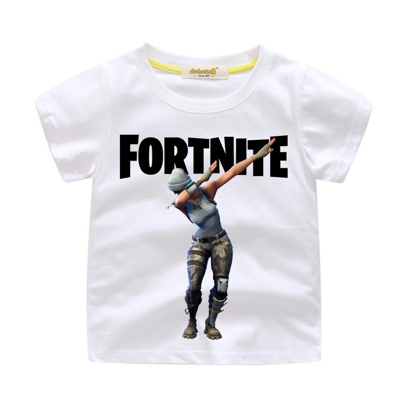 Fortnite Cotton Short-sleeved T-shirt For Kids