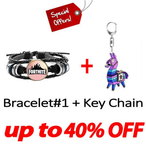 Fortnite Bracelet and Key Chain Set