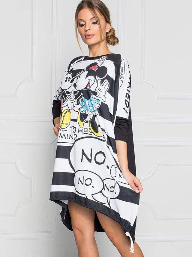 Mickey Printing Loose Dress
