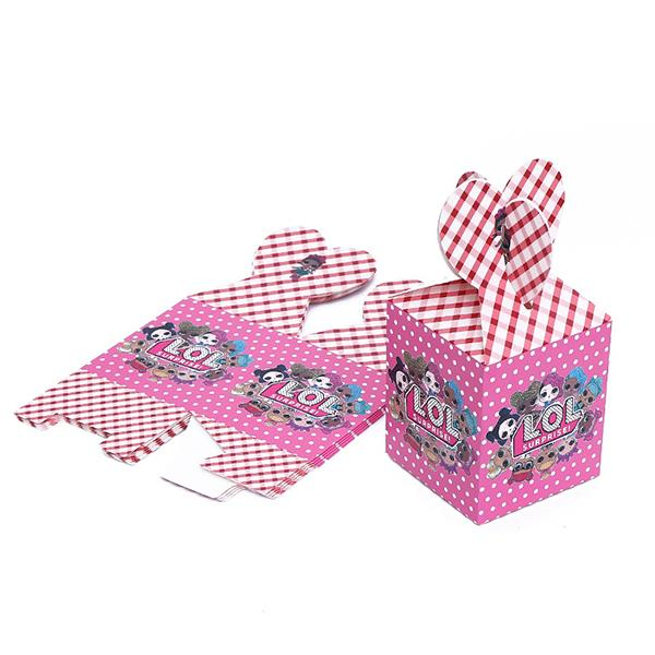 6PCS LOL Surprise! Doll Birthday Party Sweet Boxes Gift Decor Cartons