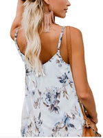 wiccous.com Tanks White / S V-collar Printed Sexy Sleeveless Tanks
