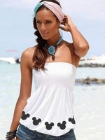 Mickey Mouse Off-The-Shoulder Vest T-shirt