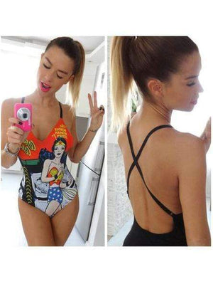 Cartoon Printing Swimwear