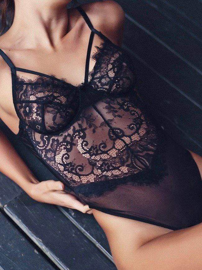 Sexy Lace Jumpsuits Underwear