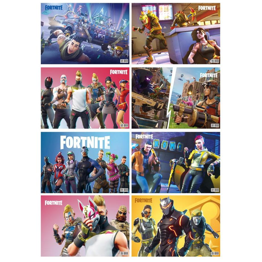 Fortnite Wall Poster (8 Copies/Set)