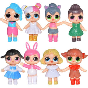 8PCS LOL Surprise! Doll Girls Toys Home Office Decoration Ornaments