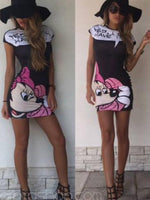 Mickey Printing Slim Dress