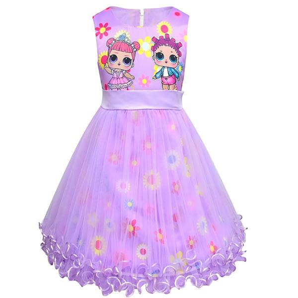 LOL Surprise! Cute Girls Mesh Sleeveless Dress