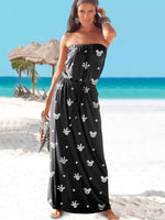 Mickey Mouse Off-The-Shoulder Maxi Dress