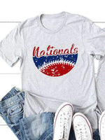 wiccous.com T-shirts LightGray / S Nationals Baseball Tee