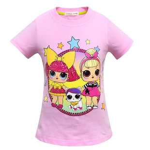 LOL Surprise! Girls Cute Cartoon Print T-shirt