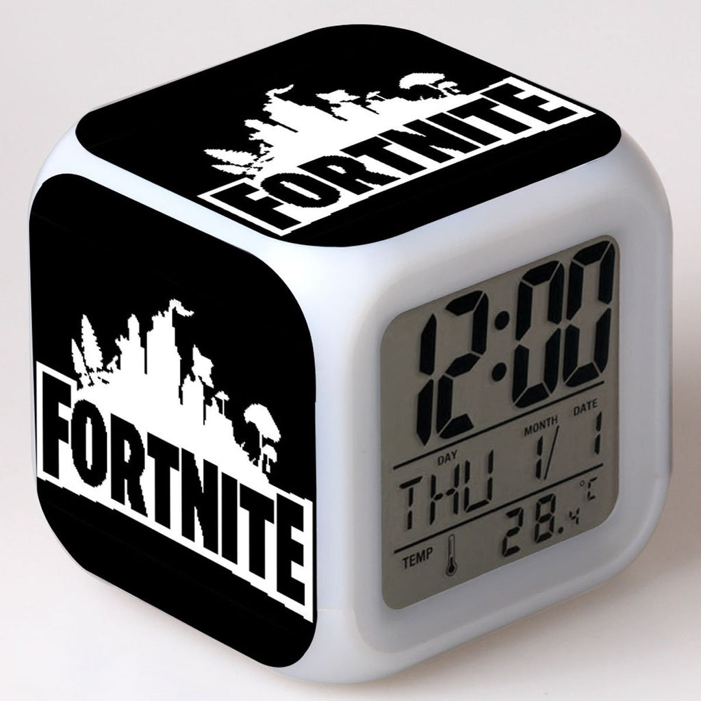 Fortnite Colorful LED Light Alarm Clock