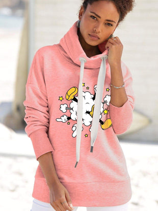 Mickey Mouse Stand Collar Stay Cord Hoodie  Jacket